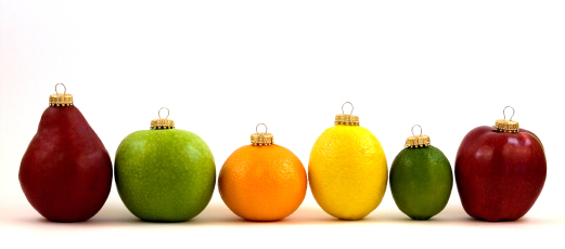 Holiday fruit ornaments nutrition @ Bodyworks